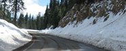 Mt Ashland Road climb in winter