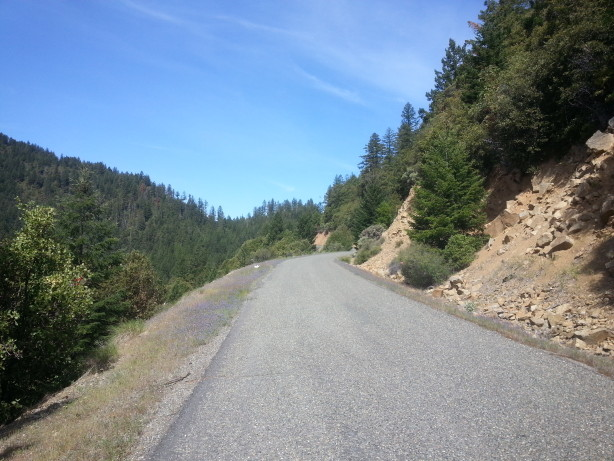View looking up the climb about 1/2 mile from the summit.